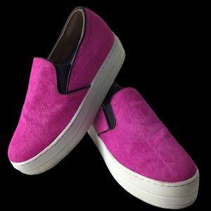 Skechers Street Pink Animal Hair Slip-on Sneakers